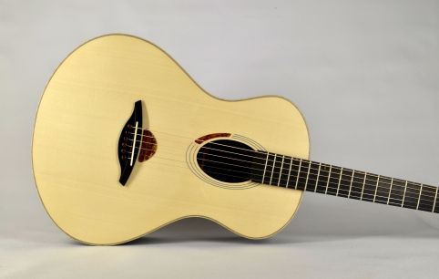 Lion#2 the long proportion, lattice bracing and overall design results in a fine sounding guitar.